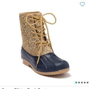 NEW Sugar Glitter Gold Women's Duck Boots